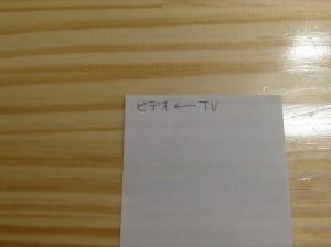 画像1:メモ紙にラベルの名前を書く。